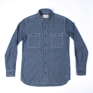 Image 2 - WW2 Reproduction Vintage US Navy Denim Chambray Work Shirt Mens Fatigue Utility