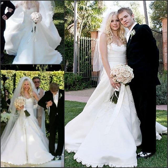 Celebrity Wedding Gown: Celebrity Wedding Dress Avril A Line/Princess Off The