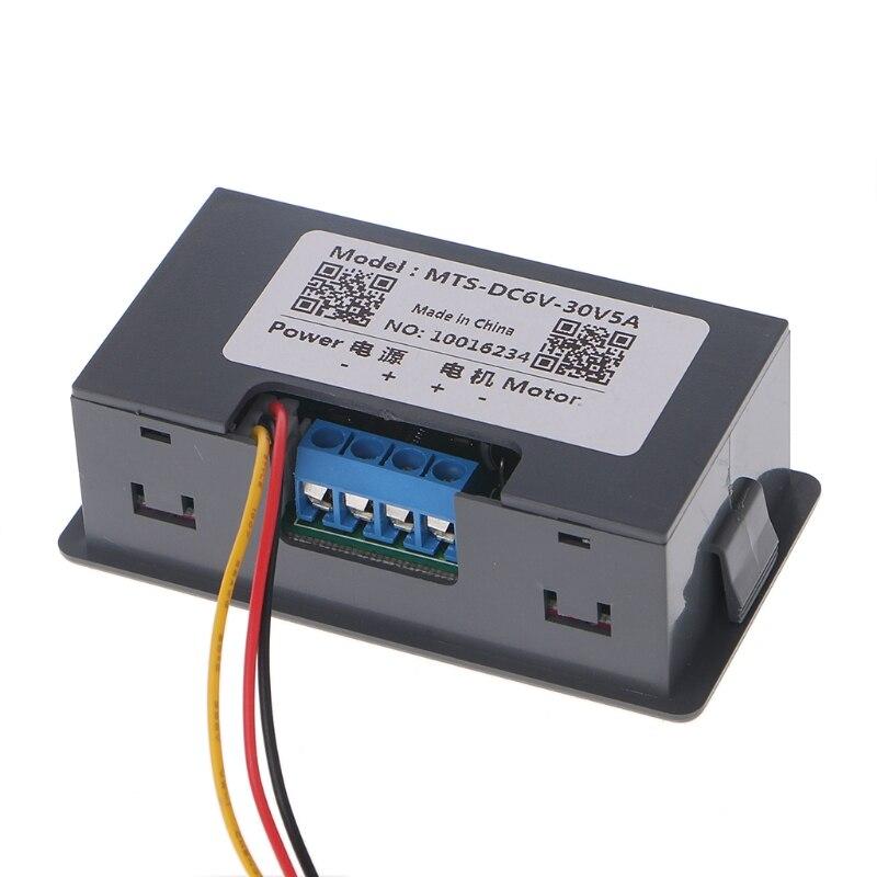 Contrôleur de vitesse de moteur de cc 6-30V 12V 24V 15A Max PWM avec l'affichage numérique 0.01-150 W 0.02A
