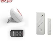 Wolf Guard Wireless Indoor Flashing LED Siren Security Alarm Burglar System Door Window Sensor Remote Control