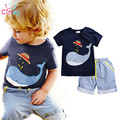 Branded 100% Cotton 2017 Baby Boys Clothing Toddler 2pcs Children Suits Summer Baby Kids Clothes Clothing Sets Short Sleeve Boys