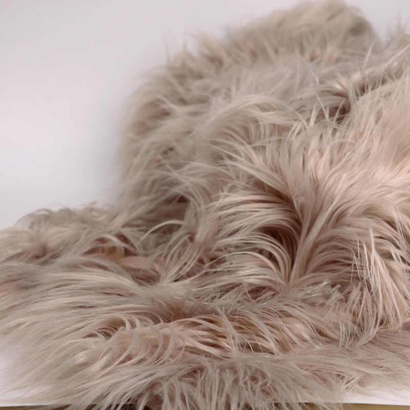 (90*100cm) Faux Fur Blanket Basket Stuffer Mongolia Fur Photography Props Newborn Photography Props