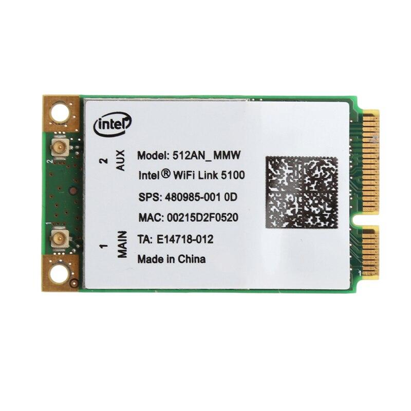2019 nouveau pour Link Intel 5100 WIFI 512AN_MMW 300 M Mini carte WIFI sans fil PCI-E 2.4/5 GHz
