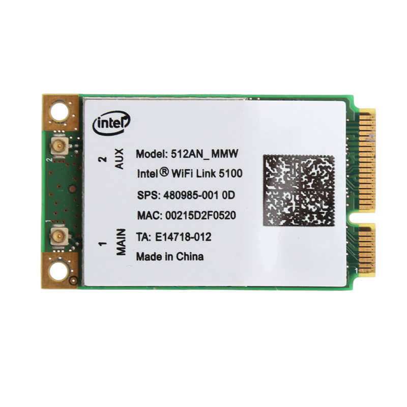 2020 New For Link Intel 5100 WIFI 512AN_MMW 300M Mini PCI-E Wireless WLAN Card 2.4/5GHz