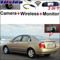 Liislee Special Rear View Camera + Wireless Receiver + Mirror Monitor Easy Parking System For KIA Cerato Sephia Sephia5 LD Sedan