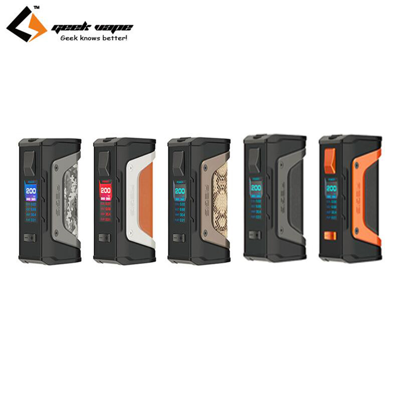 Original Geekvape Aegis Legend 200W Box MOD Vape Support Aero Mesh sub ohm Tank Electronic Cigarette MOD original geekvape shield sub ohm tank 4 5ml top filling shield atomizer im1 coil im4 coil support geekvape aegis box mod vape