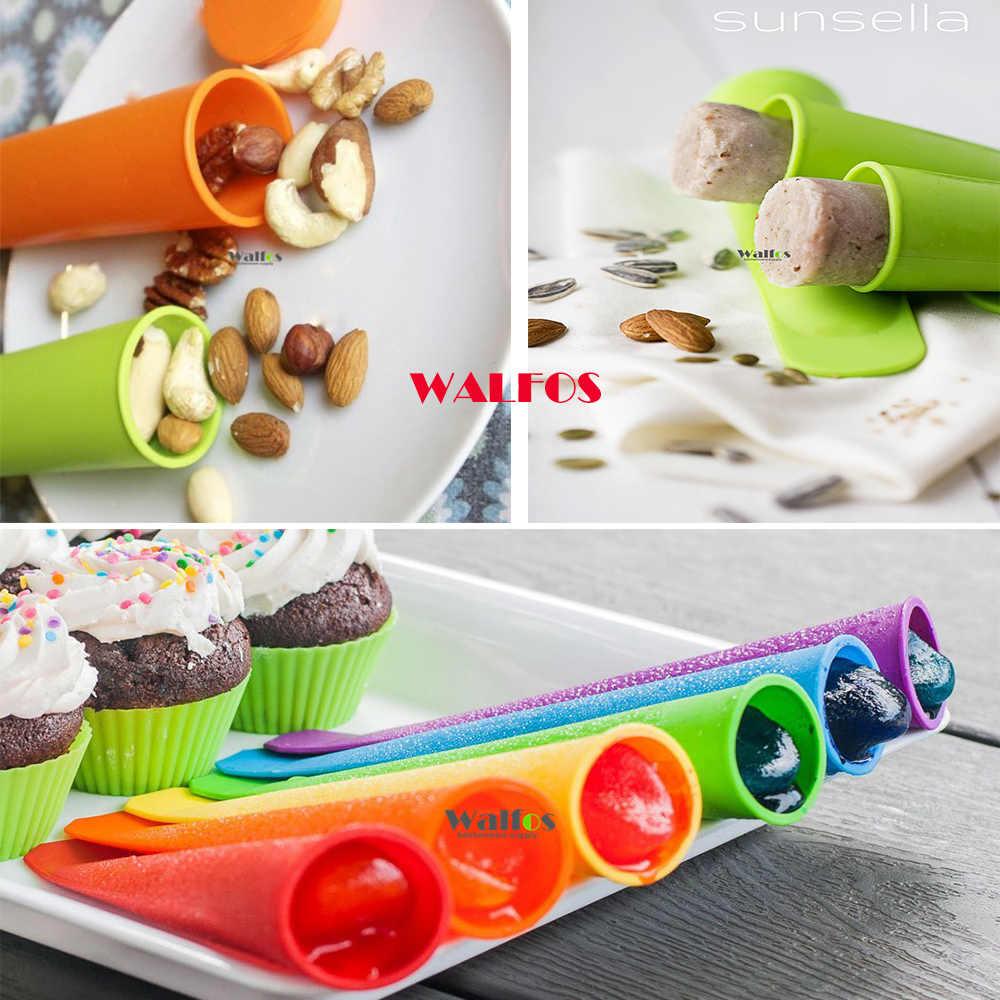 WALFOS 4 шприц кондитерский с разными насадками силиконовые формы для леденца форма для мороженого замороженного лотка DIY Инструменты для мороженого желе леденца формы для мороженого