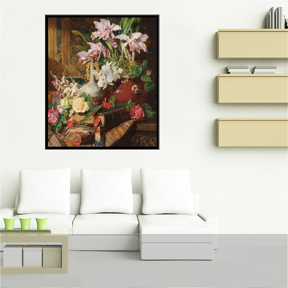 Europe Flowers Bonsai Decorative Still Life Oil Handpainted Painting Print Canvas Colorful Art Wall for Modern Home Decor Gifts