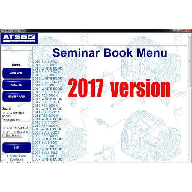 US $22 9 |2017 ATSG (Automatic Transmissions Service Group Repair  Information) Repair Manual Diagnostics Software for multi brands cars-in  Software