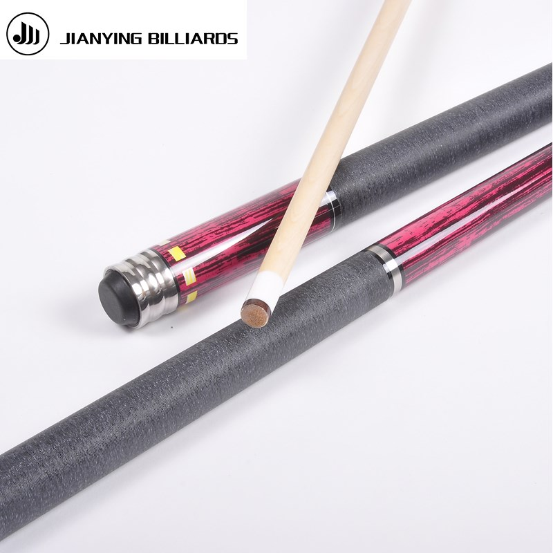 цена на Brand JianYing Billiard pool Cue Cue tip 13mm Maple handmade 1/2 Nine-ball Ball Arm,18-20oz snooker cue Model PB09 free shipping