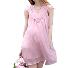 2016 New Summer Pregnant Maternity Dresses Casual Pregnancy Clothes For Women Sleeveless Clothing Chiffon Dress