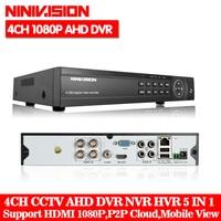 NINIVISION Multifunctional AHD NH DVR Hybrid DVR 1080P NVR Video Recorder CCTV AHD DVR 8CH 1080P