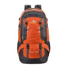 60L Outdoor Climbing Travel Backpack Mountain Hiking Camping Bag Big Capacity Waterproof Breathable Traveling Rucksack XA614WD