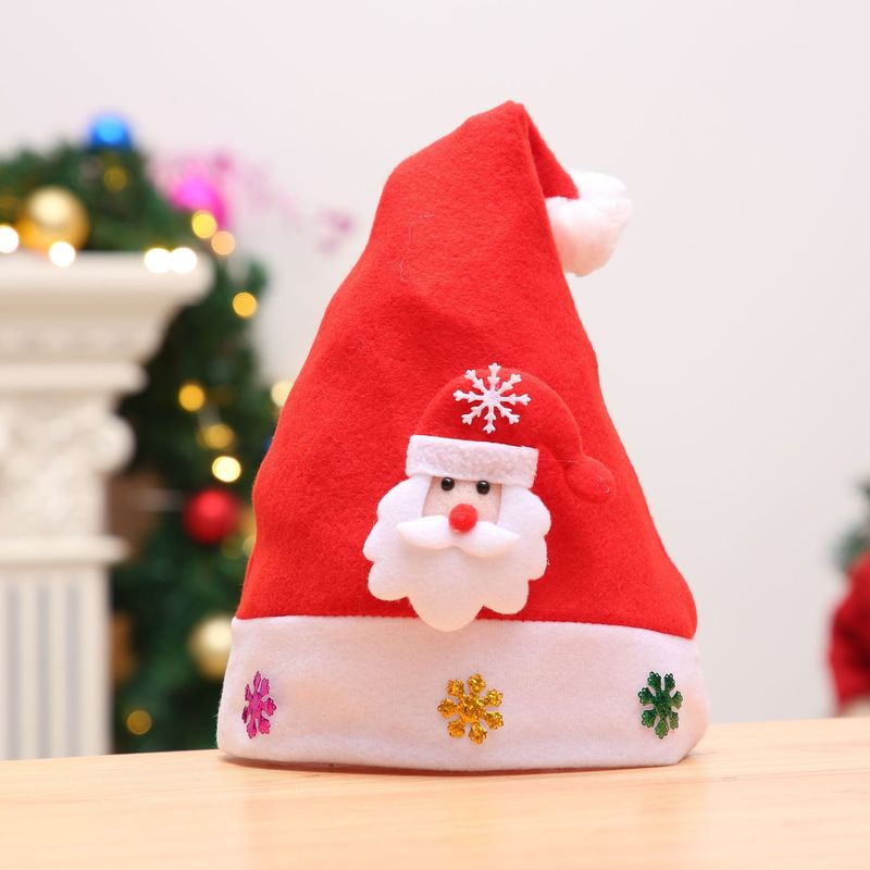 3051382522ece Cute Christmas Hat Kids Adult Children with Lights Cartoon Snowman Santa  Hat Xmas Cap Electronic lamp -in Christmas Hats from Home   Garden on ...