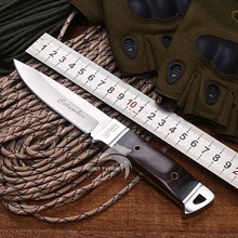 WTT K90 Fixed Hunting Knife 3Cr13 Blade Tactical Survival Knives Camping Pocket EDC Tools Utility Outdoor Knife With Wood Handle
