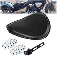 Motorcycle Black Solo Seat 3 Spring Bracket For Harley Chopper Bobber Honda With Swivel Bracket Solo