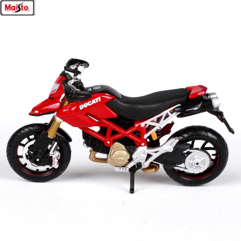 مايستو 1:18 16 أنماط دوكاتي HYPERMOTARD الأصلي أذن محاكاة سبيكة نموذج دراجة نارية سيارات لعبة هدية مجموعة