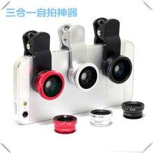 3 in 1 Fish eye lens universal mobile phone camera wide+macro+fisheye lenses for