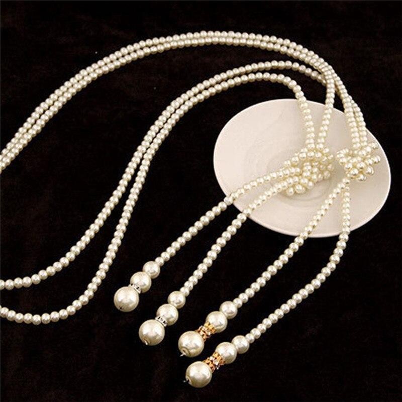 26f9cb6c8881 Collares largos de moda 2018 collares largos de perlas simuladas para  mujeres Vintage gargantilla collar de declaración colgantes regalos de  fiesta R5GJ