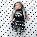 2016 Новый Лето Осень Детская одежда Мальчиков короткий Рукав Рубашки Брюки 2 шт. Гэри Fox Девушки Повседневная набор Одежда для Новорожденных