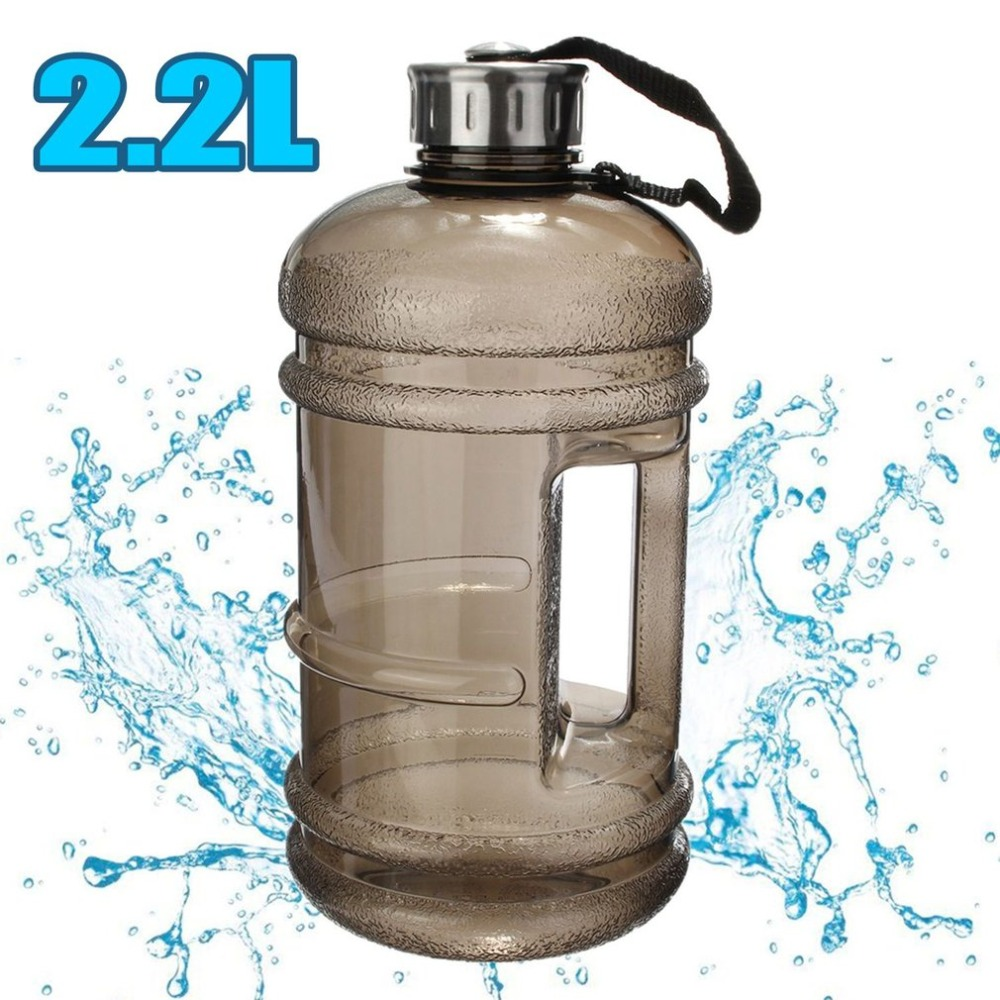 2.2L Big Large Water Bottle Large Capacity Kettle Outdoor Sports Gym Fitness Water Bottle for Training Camping Running