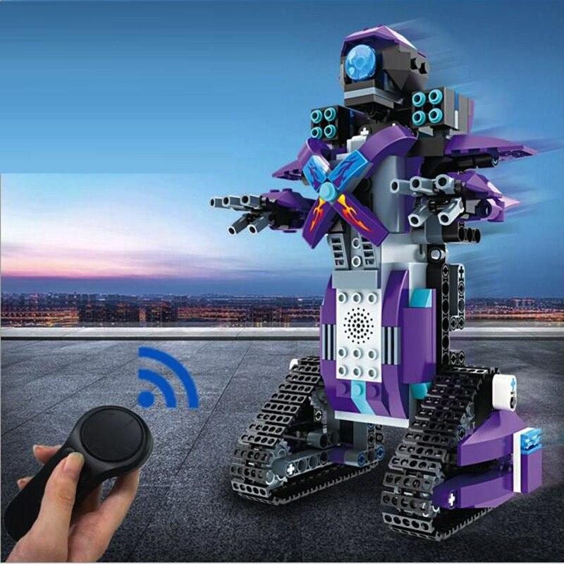 Enfants RC jouet 336 pièces bricolage assemblage blocs briques Smart Robot voitures électriques télécommande jouets garçons éducatifs cadeau de noël