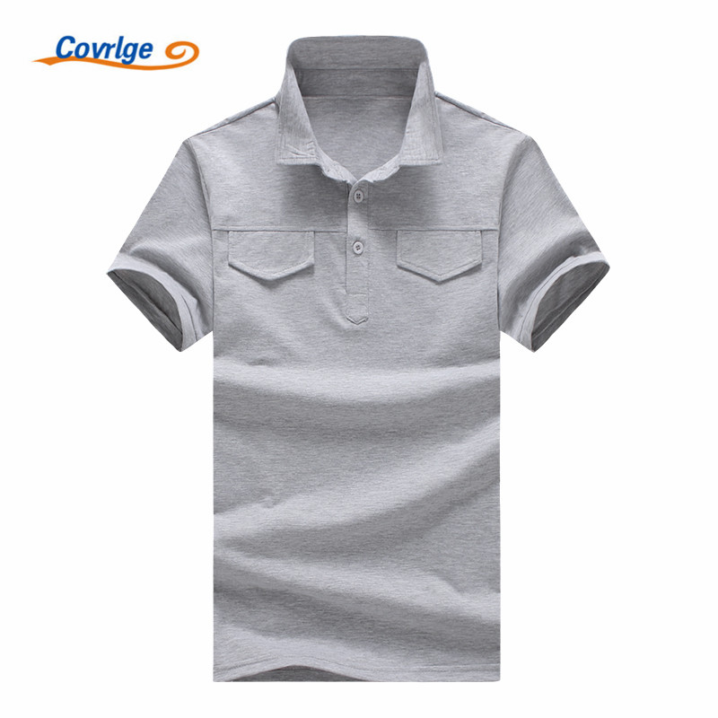 Covrlge ALL Size Fashion Casual   Polo   Shirt Men Solid   Polo   Shirt Brands Men British   Polo   Shirts Lapel Short Sleeve Men MTP055