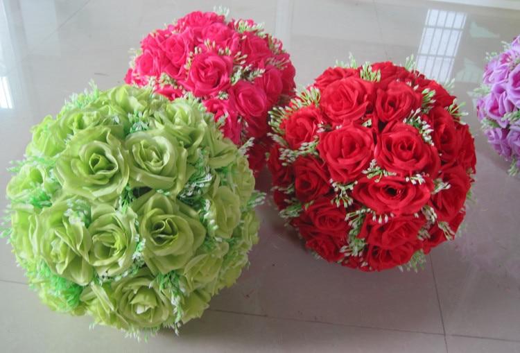 8 tuuman (20 cm) häät suudelleva pallo Pomander keinotekoinen kukka - Tavarat lomien ja puolueiden - Valokuva 5