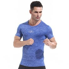 Workout fitness men long sleeve t shirt men thermal muscle bodybuilding wear compression Elastic Slim exercise clothing