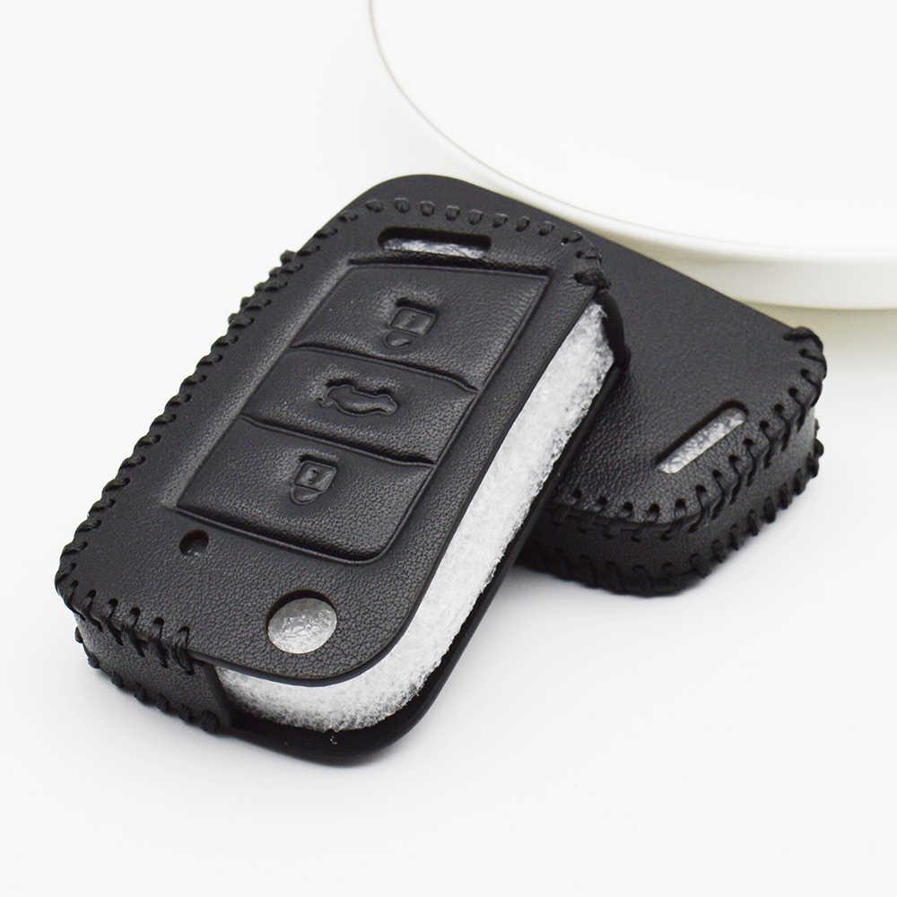 Skórzana obudowa kluczyka do samochodu pokrywa dla Skoda Kodiaq Octavia 1 2 A5 A4 A7 szybka Fabia 3 Superb Karoq Yeti 2018 2019 obudowa kluczyka akcesoria