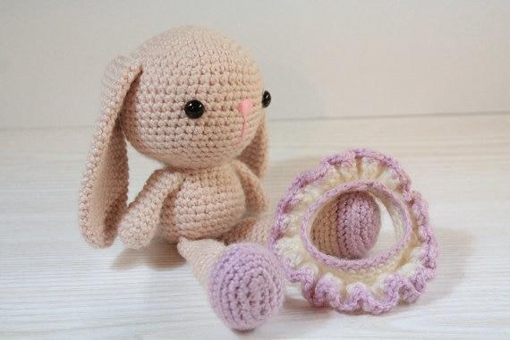 Häkeln Kaninchen Amigurumi Gestrickte Kuscheltiere Puppe Toybaby