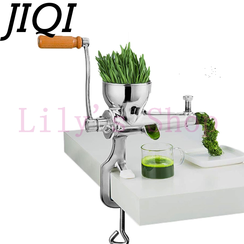 JIQI Hand Stainless Steel wheatgrass juicer manual Auger Slow squeezer Fruit Wheat Grass Vegetable orange juice press extractor цена