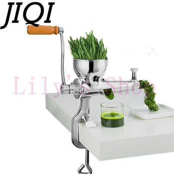 JIQI Hand Stainless Steel wheatgrass juicer manual Auger Slow squeezer Fruit Wheat Grass Vegetable orange juice press extractor - DISCOUNT ITEM  11% OFF All Category