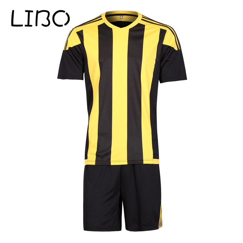 libo brand adults and kids soccer jerseys training suits quick drying fabric football shirts+shorts