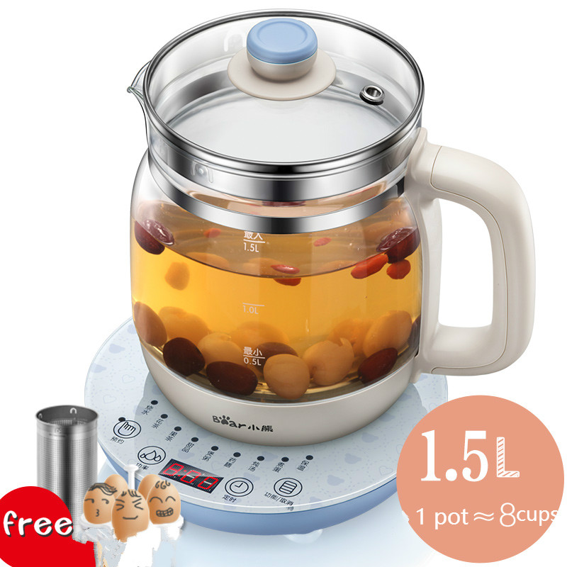Automatic Thickening Glass Kettle Multifunctional Health Pot Electric Tea Cooking Kettle Making Delicious Food Without Kitchen