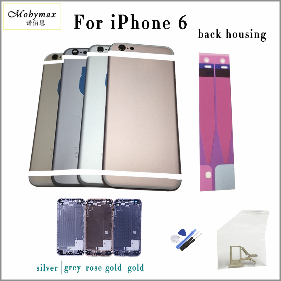 Mobymax Cover Back-Housing A1586 A1549 Imei-Design 0682 Phone-Model CE with Golden-Sliver