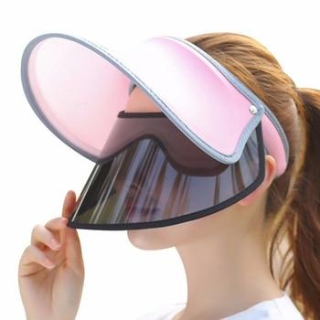 2018 verano Sol sombrero mujeres doble anti-ultravioleta grande ancho BRIM  Floppy visera sombreros de paja Cap unisex señoras playa sombrero af5d26893b3