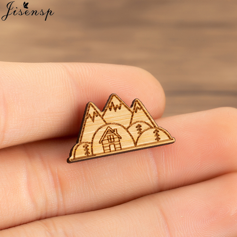Cartoon Mountain Lapel Pin Women Brooch Metal Snow Mountain Pin Button Jacket Backpack Pins Badge Jewelry Gift