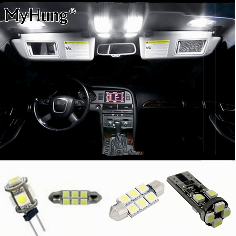 цена на 27pc LED Bulb Interior Dome Map trunk Vanity mirror door footweel glove box Lights Package Kit For Audi Q5 2010-2013 Car Stying
