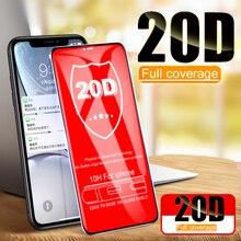 20D湾曲縁保護ガラスiphone 7 8 6 6sプラス強化スクリーンプロテクター11プロ × xr xs最大se 2020ガラスフィルム