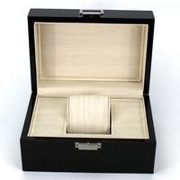 도매 나무 시계 상자 디자인 블랙 시계