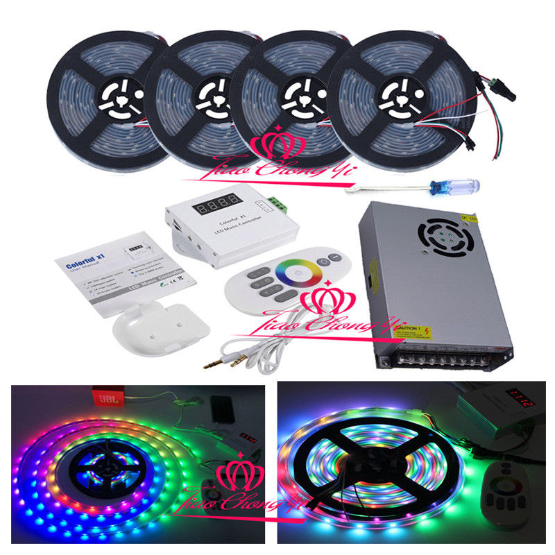 5V WS2812B Individually Addressable LED strip IP67 Remote music controller power