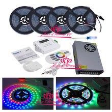 5 В WS2812B индивидуально адресуемых светодио дный полосы IP67 + пульт дистанционного Музыка контроллер + питание