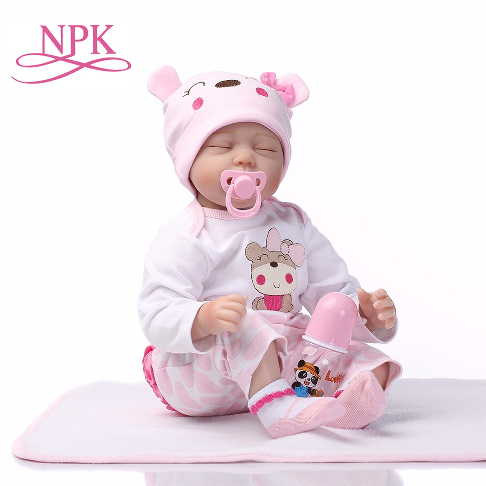 NPK Reborn Baby Dolls Silicone Cute Newborn Soft Babies Doll For Girls Kids Bebe Reborn Dolls