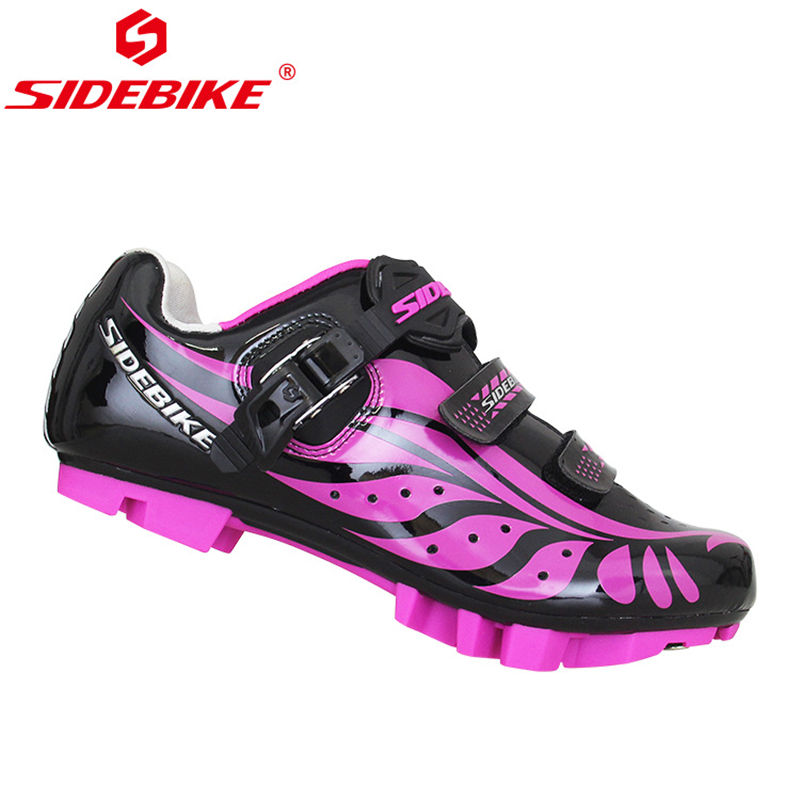 SIDEBIKE Ultralight Women Cycling Shoes MTB Road Mountain Bike Anti slip Microfiber Breathable Bicycle Shoes Nylon