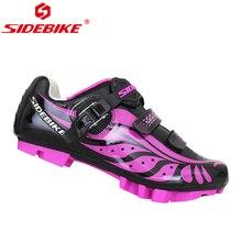 цена SIDEBIKE Ultralight Women Cycling Shoes MTB Road Mountain Bike Anti-slip Microfiber Breathable Bicycle Shoes Nylon TPU Sole онлайн в 2017 году