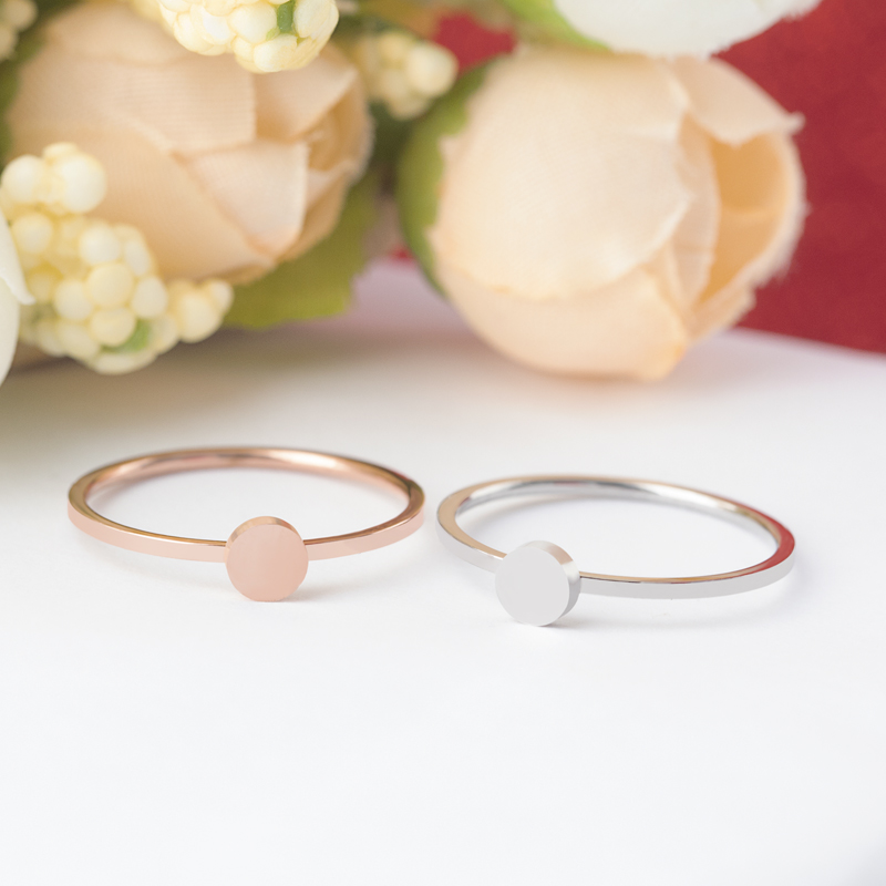 c1fddb183aad7 ZMZY 1mm Simple Circle Thin Minimalist Stainless Steel Engagement Ring  Finger Jewelry Stackable ...