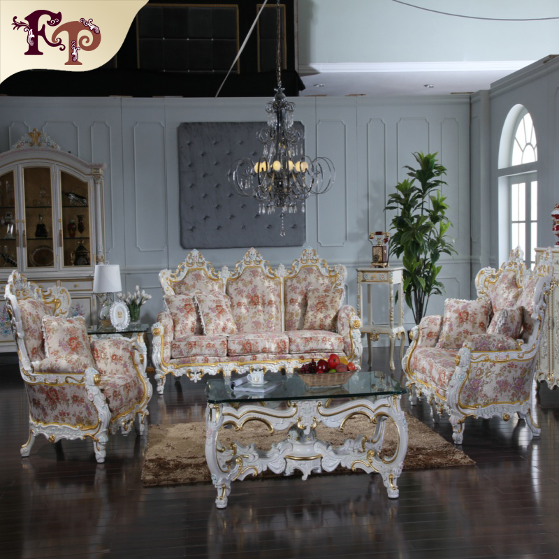 classic furnitures Baroque style living room sofa set