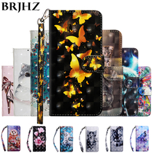 3D Flip Wallet Leather Case on for Fundas Huawei