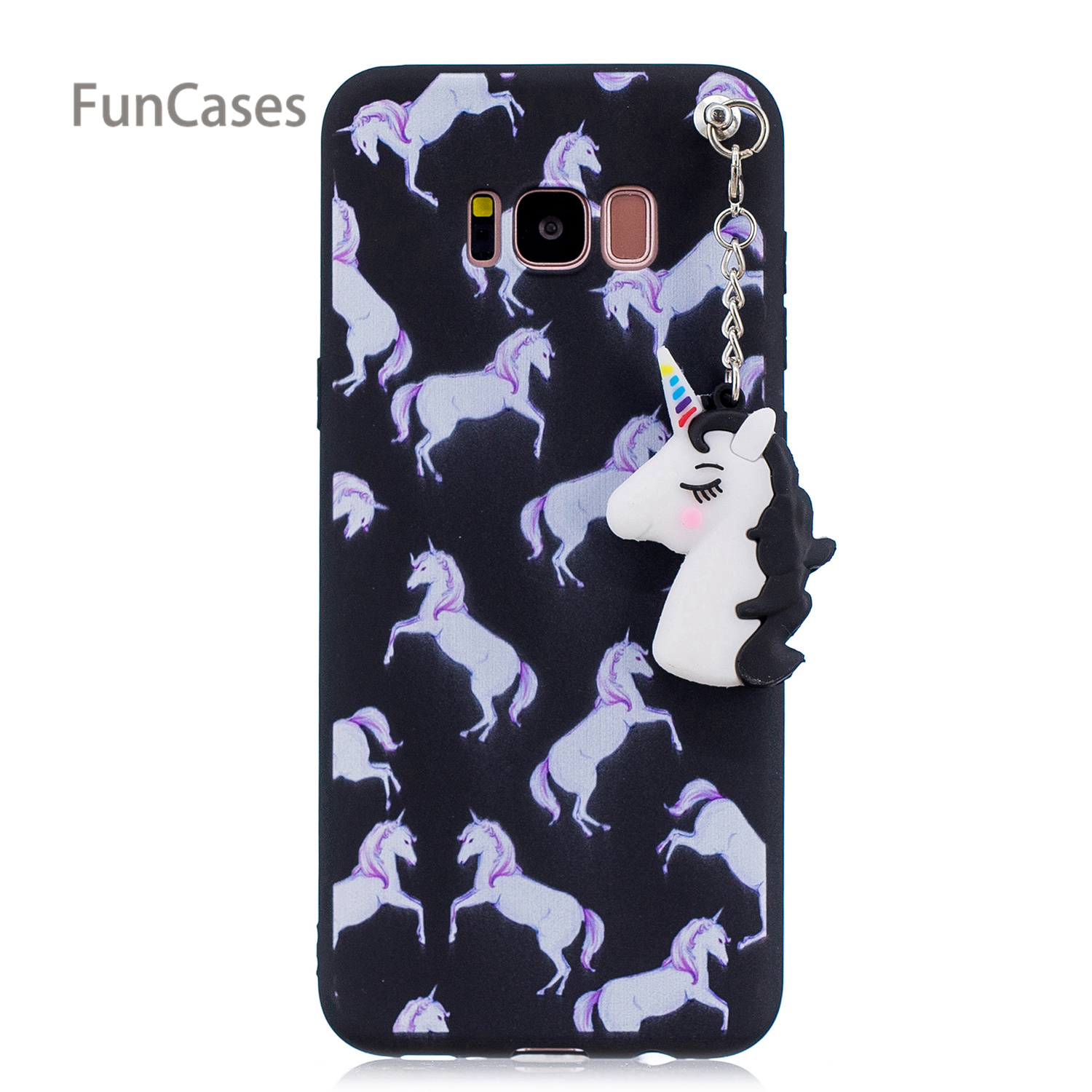 lovely Unicorn Phone Case sFor Hoesje Samsung S8 Soft Silicone Back Cover Carcasa Cute Mobile Phone Case For Samsung Galaxy S8